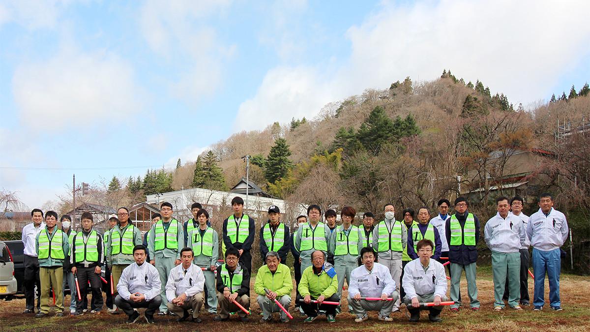 写真:角館桜まつり 交通整理